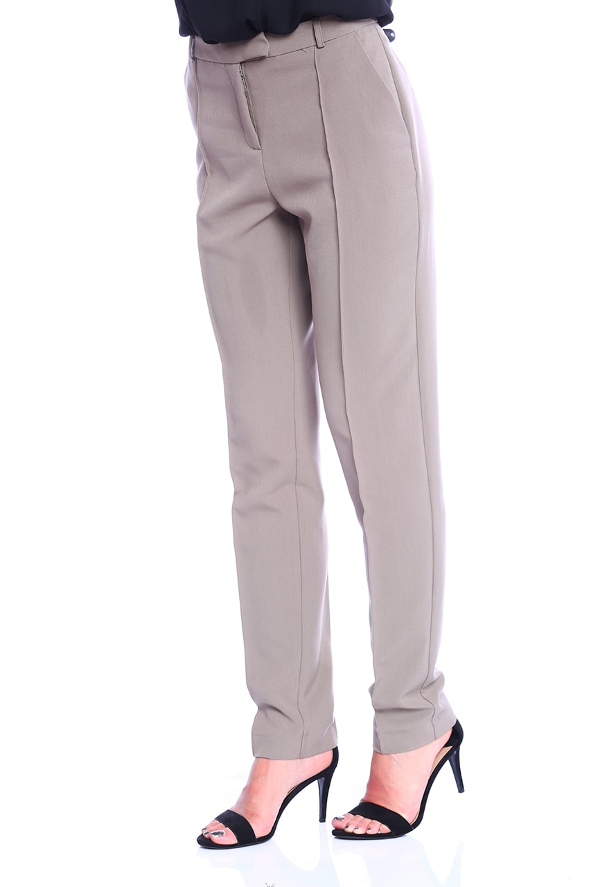 Pantalon dama office gri croiala conica